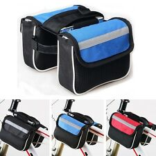 Bike Cycling Bicycle BMX Double Side Frame Front Tube Pannier Saddle Bag Pouch