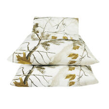 REALTREE SNOW WHITE CAMO BEDDING SHEETS SET - CAMOUFLAGE