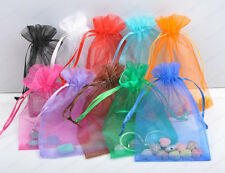 20/50/100Pcs Organza Jewelry Gift Favors Pouch Wedding Bags U PICK 15colors