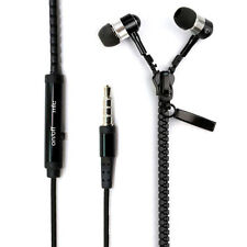 2014 Hot 3.5mm Stereo Hands-Free Headset In-Ear Metal Zip Earphone  w/ Mic GBP