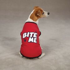 "Casual Canine ""Bite Me"" Tee Poly/Cotton Dog Shirt Red"