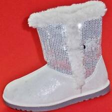 NEW Girl's Youth's SONOMA DYME Silver Fashion Casual Winter Dress Shoes/Boots