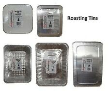 ALUMINIUM FOIL ROASTING TINS / TRAYS FOR PARTY CATERING & FOOD USE * ALL SIZES *