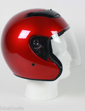 RKBG - WINBURY DOT Motorcycle Helmet Open Face with Flip Shield 3/4 HELMET