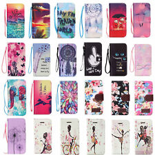 Cute Painted Wallet Magnetic Flip Stand Case Cover For iPhone 4S 5S 5C 6 6 Plus