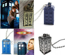 Hot Sale Doctor Who The Tardis Police Box Tower Pendant Necklace Fashion cy546