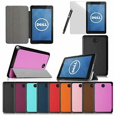 Smart Shell Cover Slim PU Leather Case for 2014 New Dell Venue 8 Android Tablet