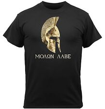 "Men's Black ""Molon Labe"" Come & Take It Spartan Graphic Short Sleeve T-Shirt NEW"