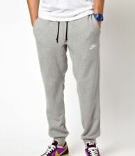 (598871-063) MEN'S NIKE AW77 CUFF SWEATPANTS HEATHER GREY/WHITE