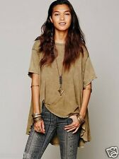 FREE PEOPLE NWT We The Free Boho Circle In The Sand Knit Top Shirt Green XS/S