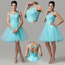 ❤CHEAP❤ Short Sleeveless Backless Prom Wedding Gowns Dance Evening Party Dresses