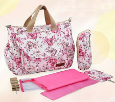 New 4 PCS/set Mommy Bag Baby Diaper Bag Combination Large  Multifunction handBag