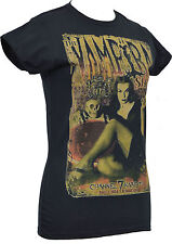 LADIES BLACK FITTED T SHIRT THE VAMPIRA SHOW GOTH HORROR CULT VAMPIRE GLAMOUROUS