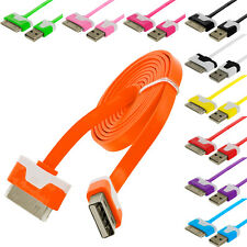 Noodle Flat USB Sync Data Cable Cord 3FT for iPhone 4 4S 3GS iPod Touch