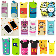 K4 Cute 3D Cartoon Animal Soft Silicone Rubber Case Cover Skin For Mobile Phones