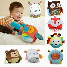 Animal Bells Cloth Ball Infant Hand Catch With Sound Paper Baby Toys Plaything