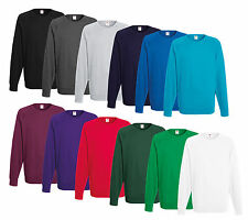 Fruit of the Loom Pullover Sweatshirt M L XL XXL Shirts Viele Farben Sweat Pulli