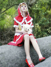League of Legends Annie Little red riding hood Red Uniform Cosplay Dress Costume