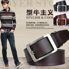 P-841 Fangle 2017 Men's Genuine Leather Waist Stylish Fashion Belt Free P&P