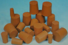 2,3 and 5 Packs of Red Solid Rubber Stopper Bungs Laboratory sizes 9mm to 33mm