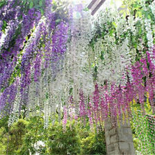Artificial Silk Wisteria Vine Leaf Garland Hanging Flower Wedding Plant HOT SALE