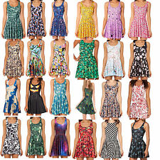 Galaxy Sexy MILK Y Adventure Time Printed Skater Singlet Beach Dresses Clubwear