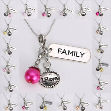NEW Floating Charms Pearl Keyring Pendent Glass Locket handmade Necklace Chain