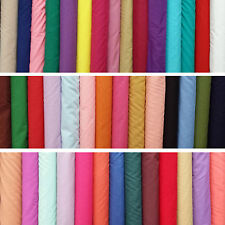 "Plain Polycotton Fabric Dress Craft Dance Material - Pre Shrunk - 45"" Poplin"