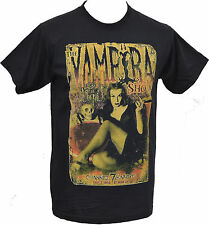 MENS BLACK PRINTED T SHIRT THE VAMPIRA SHOW GOTH HORROR CULT S - 5XL