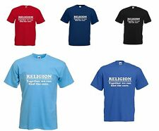 RELIGION - TOGETHER WE CAN FIND THE CURE - DAWKINS - MENS SHIRT - FUN GIFT IDEA