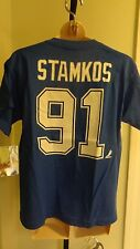 NWT NHL Reebok Tampa Bay Lightning Steven Stamkos Blue Youth Tee:S(8)-XL(18/20)