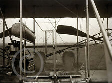 1911 Historical Photo Wright Brothers Airplane Close-up Vintage