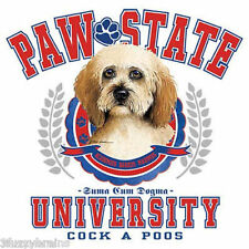 Cock A Poo Cockapoo Dog Portrait Paw State University Graphic White T Shirt