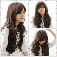 Fashion Womens Ladies Wavy Curly Full Wigs Party Long Black/Brown Hair Cosplay