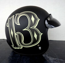 Lucky 13 helmet motorcycle limited edition dot chopper art msrp $149.99