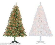 Pre-Lit 6.5' Madison Pine Artificial Christmas Tree Multi Colored Lights-2 COLOR