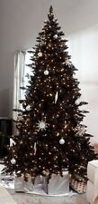 Pre-Lit 6.5' Madison Pine Artificial Christmas Tree - Black with Clear lights