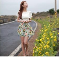 Simple Women New Package Hip Chiffon Floral Invisible Zipper Bust Skirt USSP