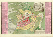 1776 LARGE HISTORICAL WALL MAP ST. PETERSBURG PETERSBOURG