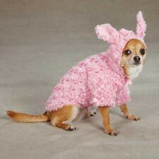 East Side Collection Fuzzy Bunny Coat Puppy Dog Pink