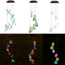 Solar Color Changing Wind Chime Mobile LED Home Garden Valentine Decor Light Opt
