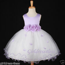 LILAC/LAVENDAR WEDDING EASTER PICTURE FLOWER GIRL DRESS 6M 12M 18M 2 4 6 8 10