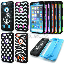 Armor High Impact Rugged Soft Hard Combo Pattern Case Cover For iPhone 6 6S Plus