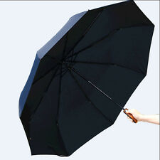 Men's AUTO Umbrella Black Compact/Folding Gift Big Size business Fashion Parasol