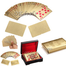 New Gold Golden Foil Plated 24K Gift Playing Cards Game Poker Deck Collection