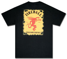 Fireball Whisky Black Logo T-Shirt