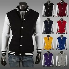 Unisex Varsity Style Varsity Letterman University College Baseball Jacket New