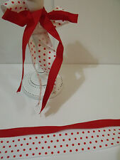 Christmas Red & White Polka Dots & Red Grosgrain DUO - Luxury Wire Edged Ribbon