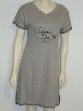 Rampage Night Dress Sleep Shirt QUEEN BEE Gray size 3X Embroidered Nightgown 24w