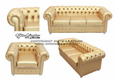 """Gold Chesterfield Suite with Crystals-AS SEEN ON """"THE VALLEYS """" MTV"""